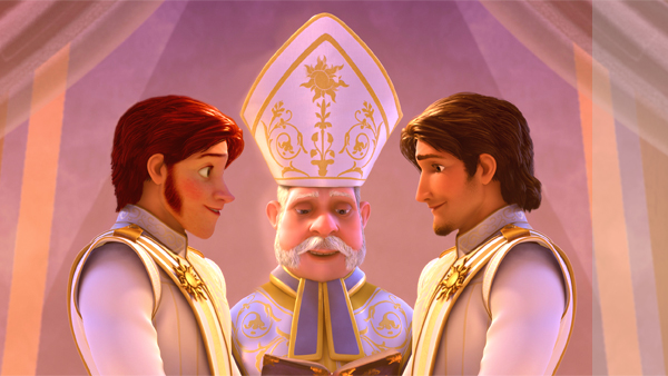Disney's Frozen and Tangled - Prince Hans + Flynn by cdpetee