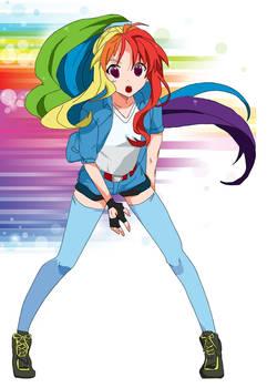 Anime human Rainbow Dash