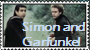 Simon And Garfunkel Stamp by CupOfMapleCoffee
