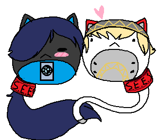 Nuggetcats: Aigis x Makoto Nuggets by Trial-Of-The-Dragon