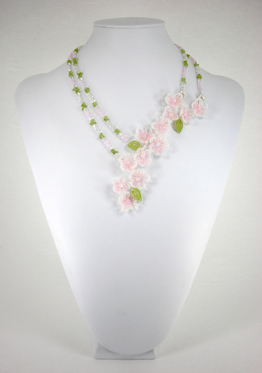 Cherry Blossom Necklace by Lady-Blue