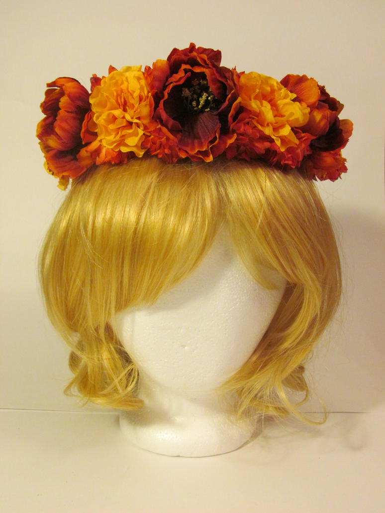 Full Circle Fall Flower Crown By Lake Fairy Creations On Deviantart