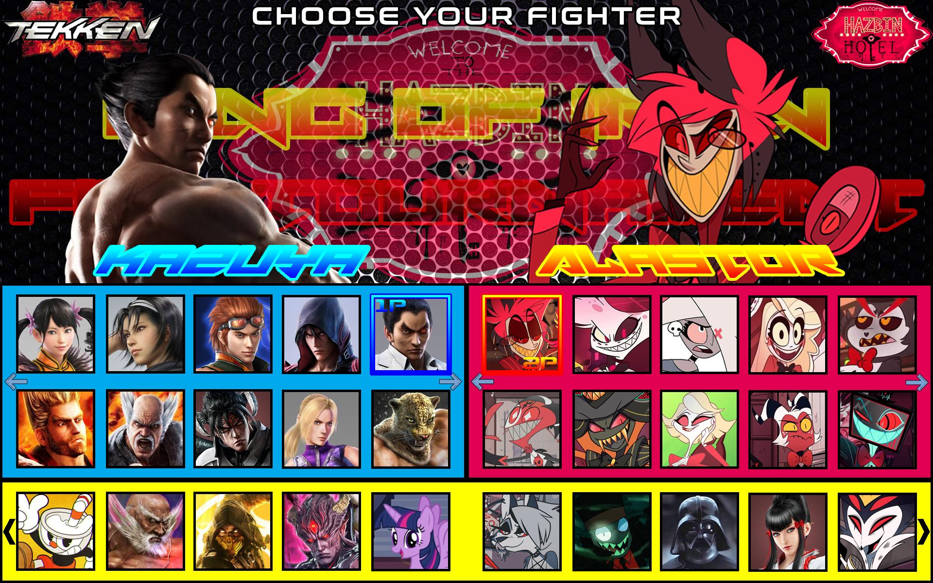 Tekken X Hazbin Hotel Character Select Screen By Bleucentenaire