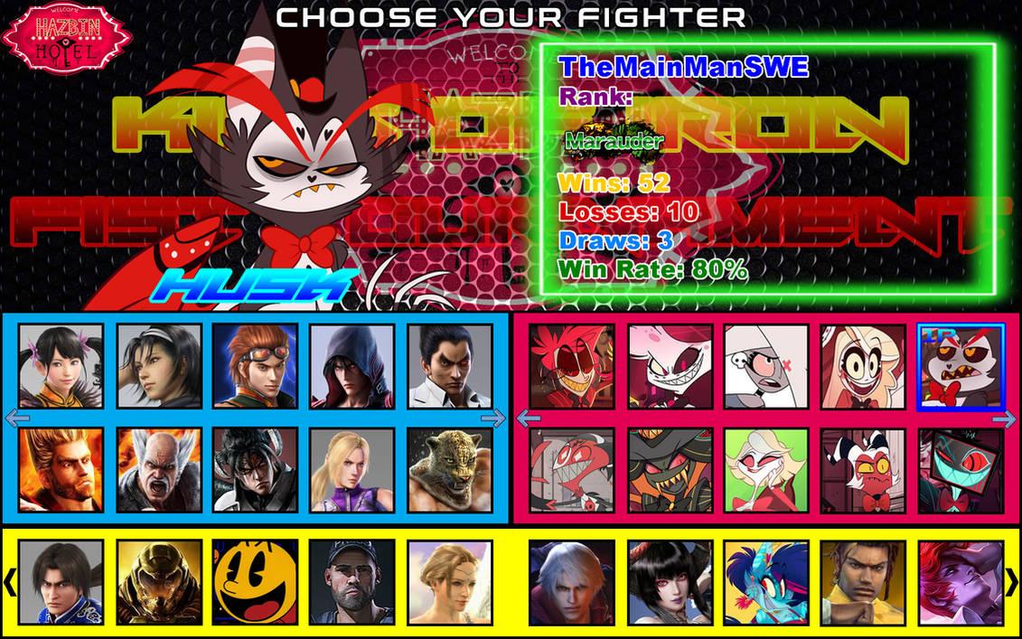 Tekken X Hazbin Hotel Character Select 1 Player By