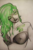 Mrs Green Hair by blackangelofmine