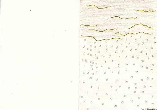 Falling snow card