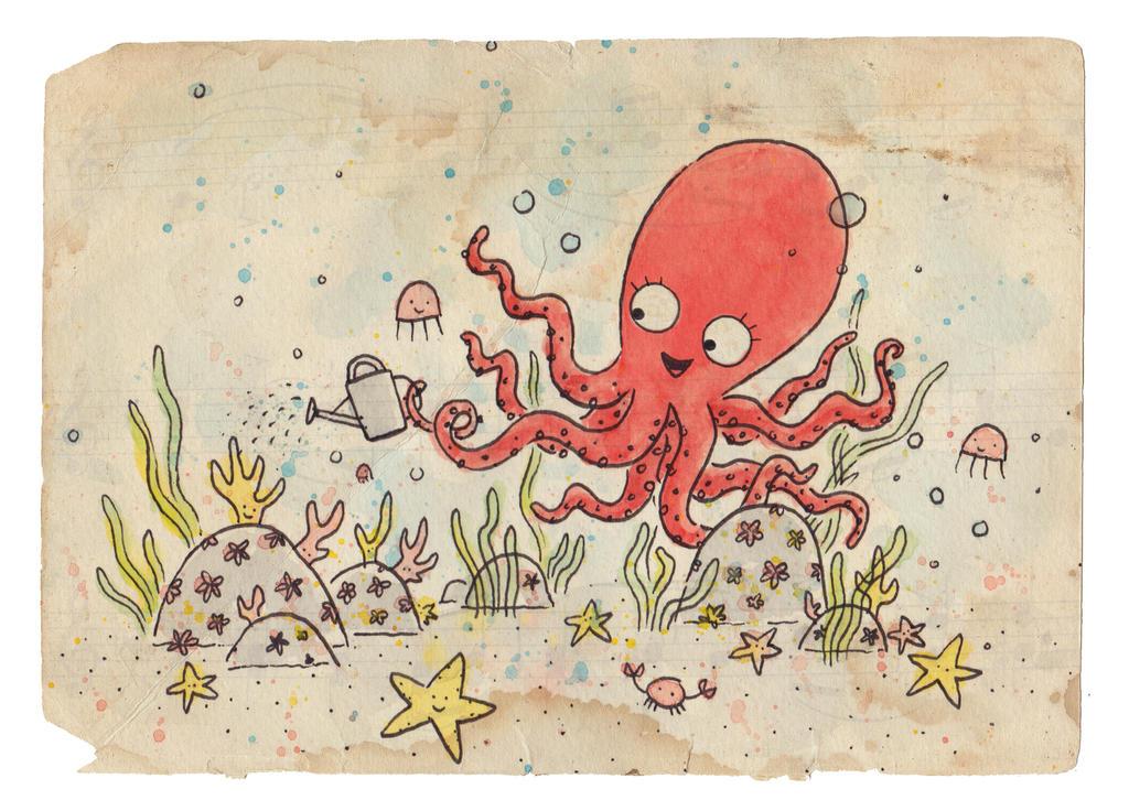 octopus garden by BenCPanda