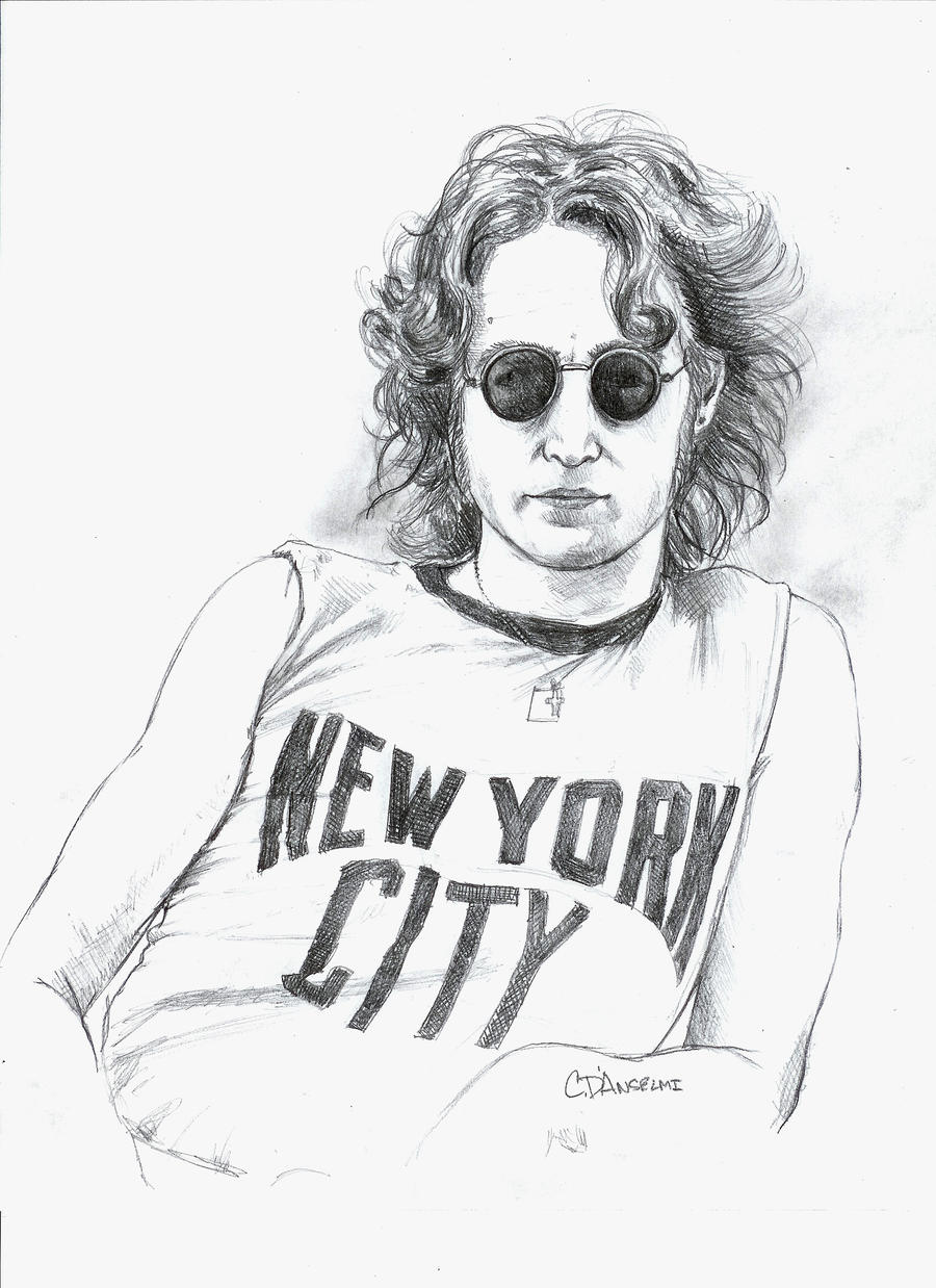 It's just a picture of Nerdy John Lennon Drawing