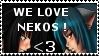 Nekos stamp by light8darkness