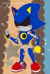 Sonic Postcard - Metal Sonic