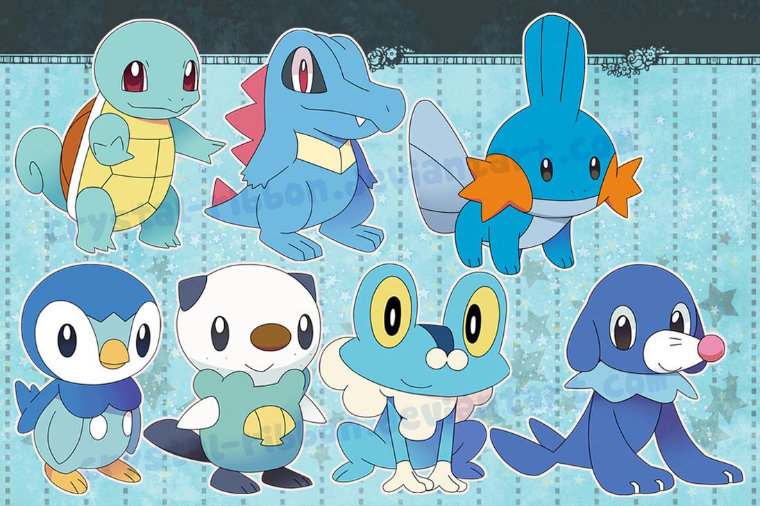 Pokemon Water Starters Stickers By Crystal Ribbon On Deviantart