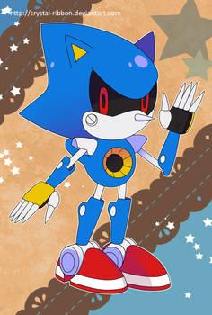 Metal Sonic postcard