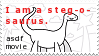 I am a steg-o-saurus by FISH3BOOT