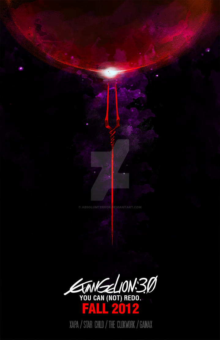 Evangelion 30 poster by absolumterror on deviantart evangelion 30 poster by absolumterror sciox Image collections