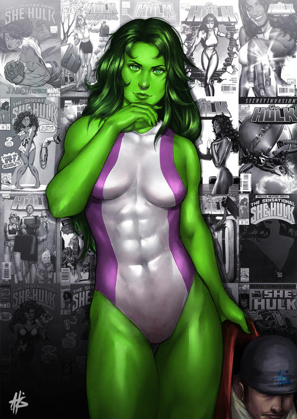 She-hulk by AbsolumTerror