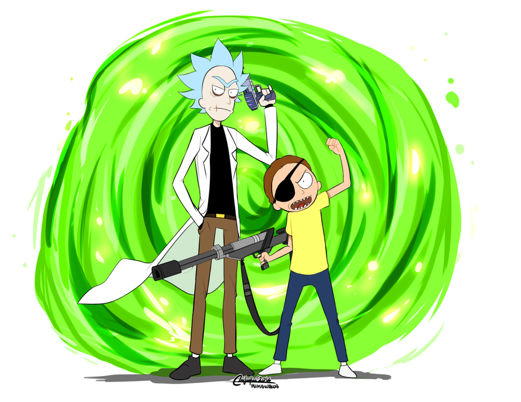 Evil rick and morty by Rika-Wawa on DeviantArt