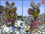 TFM OC Minecraft 3D Pixel Art - Chanelle by NadiaCoelho
