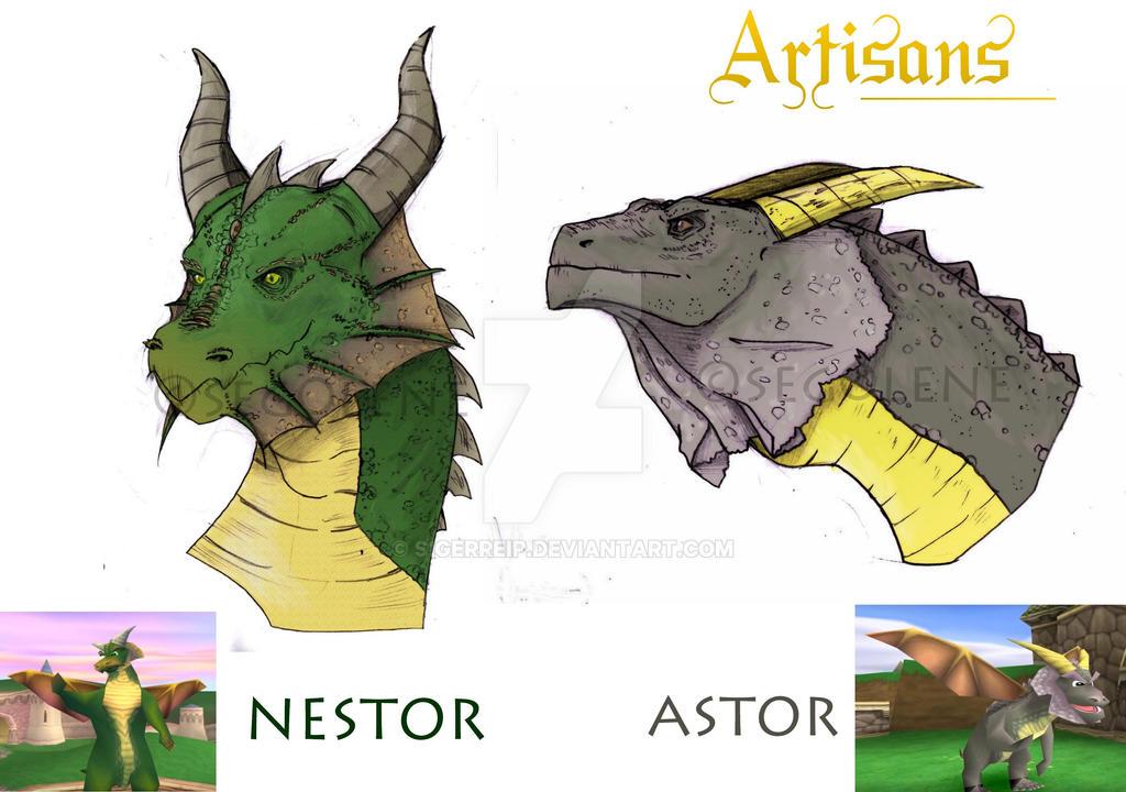 [Spyro] Artisans - Nestor n' Astor by seg0lene