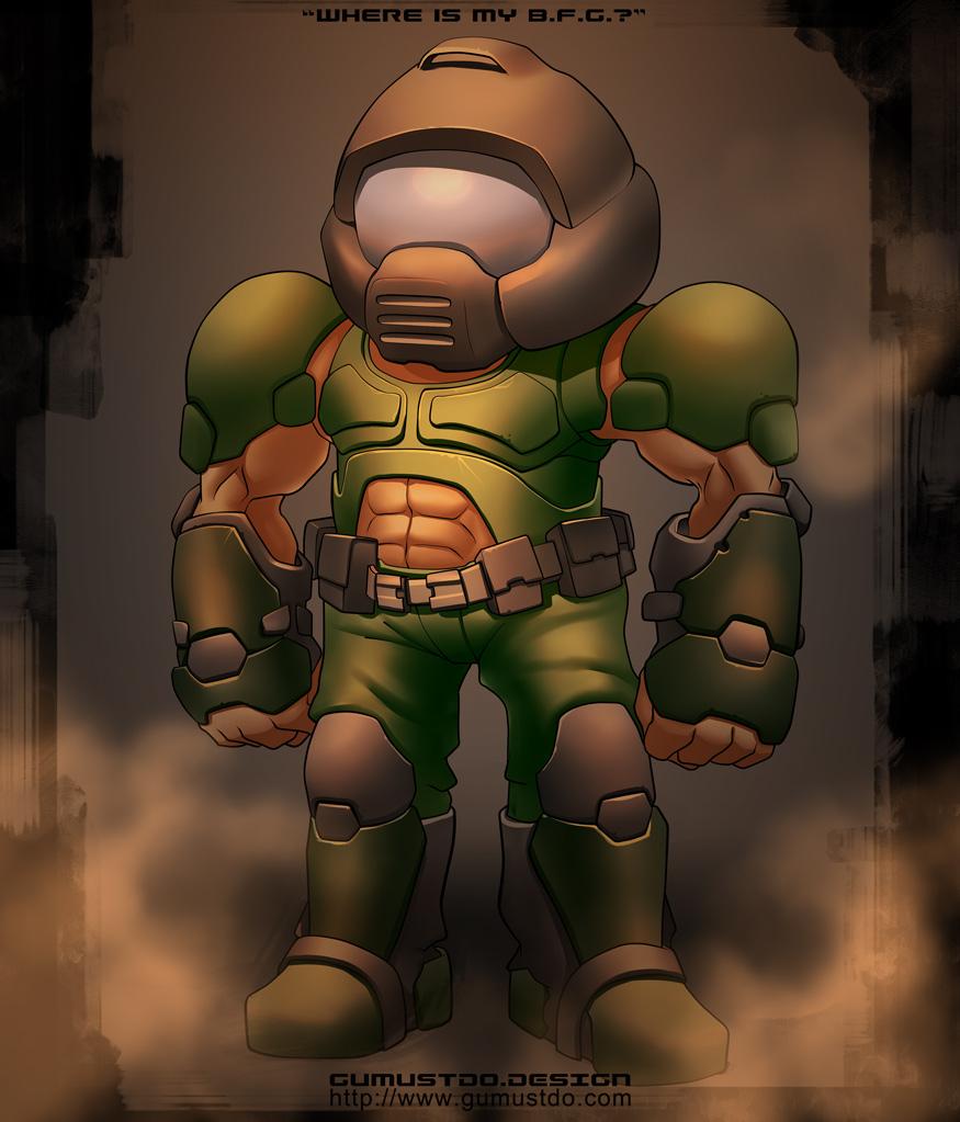Doom guy by gumustdo