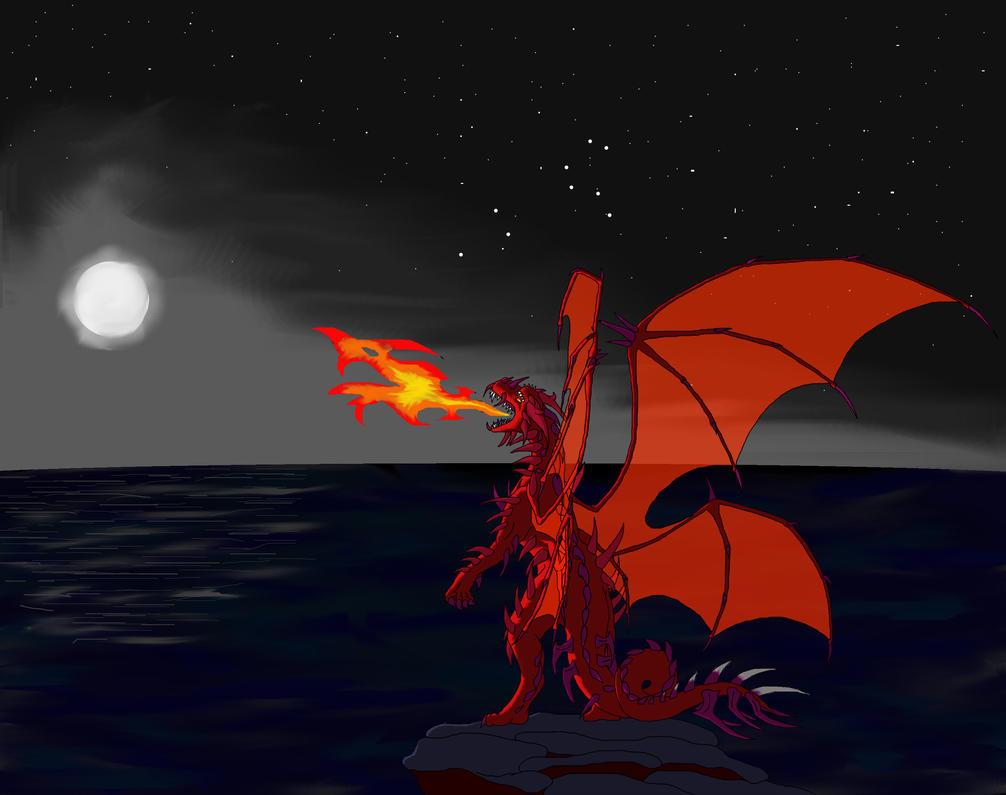 Full Moon Dragon: Full Moon Dragon By Dark-Fire-Dragoness On DeviantArt