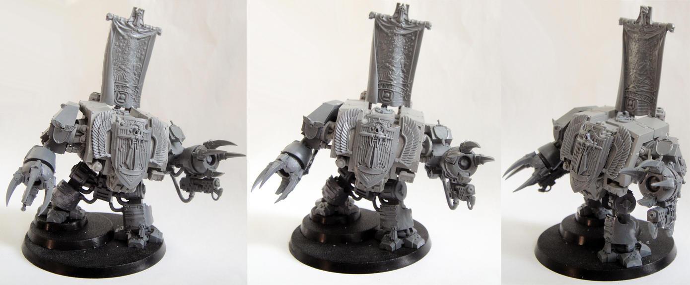 Dark Angels Dreadnought conversion by AssberryFaggot