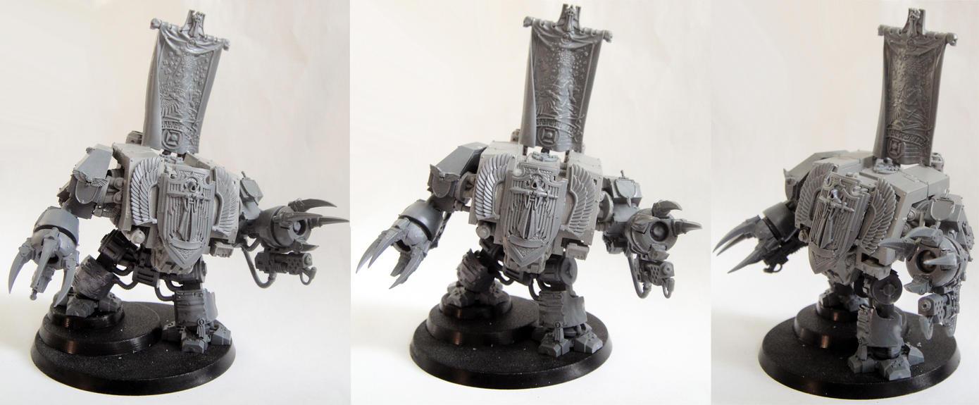 Dark Angels Dreadnought conversion by AssberryFaggot