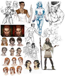 Sketchdump_Dragon Age by SineAlas