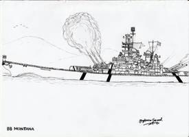 Battleship Montana by StubbornEmil