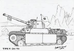 Type 4 Chi-To Medium Tank by StubbornEmil