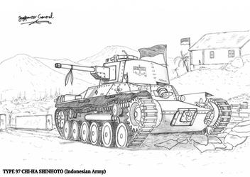 Type 97 Shinhoto Chi-Ha (Indonesian Army) by StubbornEmil