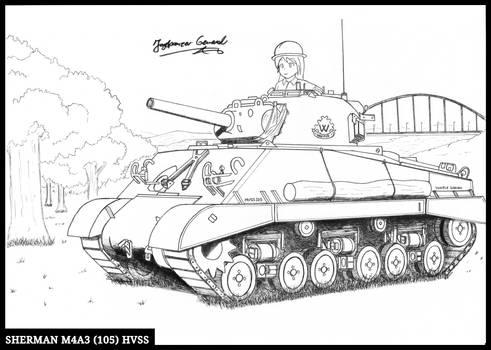 Medium Tank Sherman M4A3 (105)