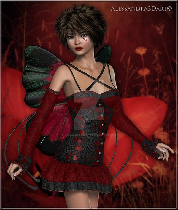 Red Burtterfly by Alessandra3DArt