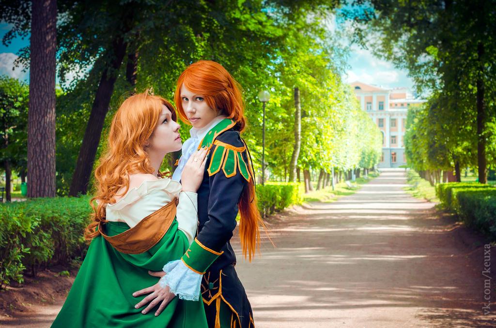 Loki and Sigyn by Ayamur4ik