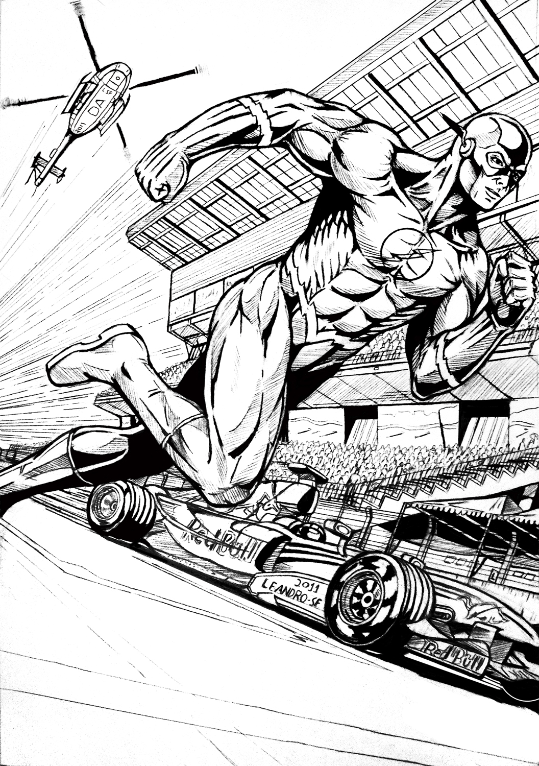 The Flash Line Art : The flash faster by leandro sf on deviantart