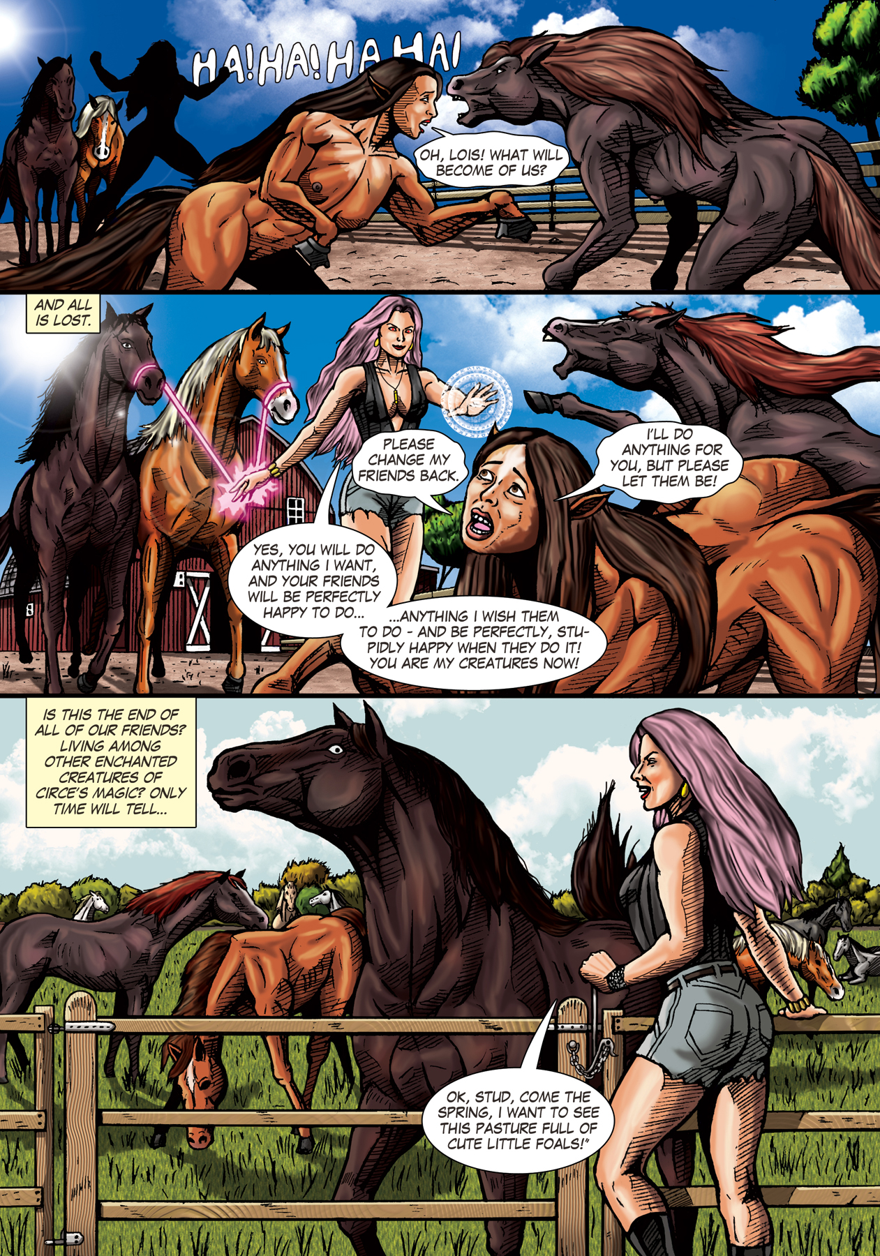 search horse transformation comic