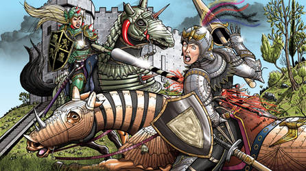 Commission Honor and Blood Joust by leandro-sf