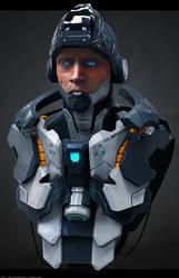 Cyborg Cleric by lancewilkinson
