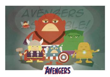 Avengers Assemble by AKADoom