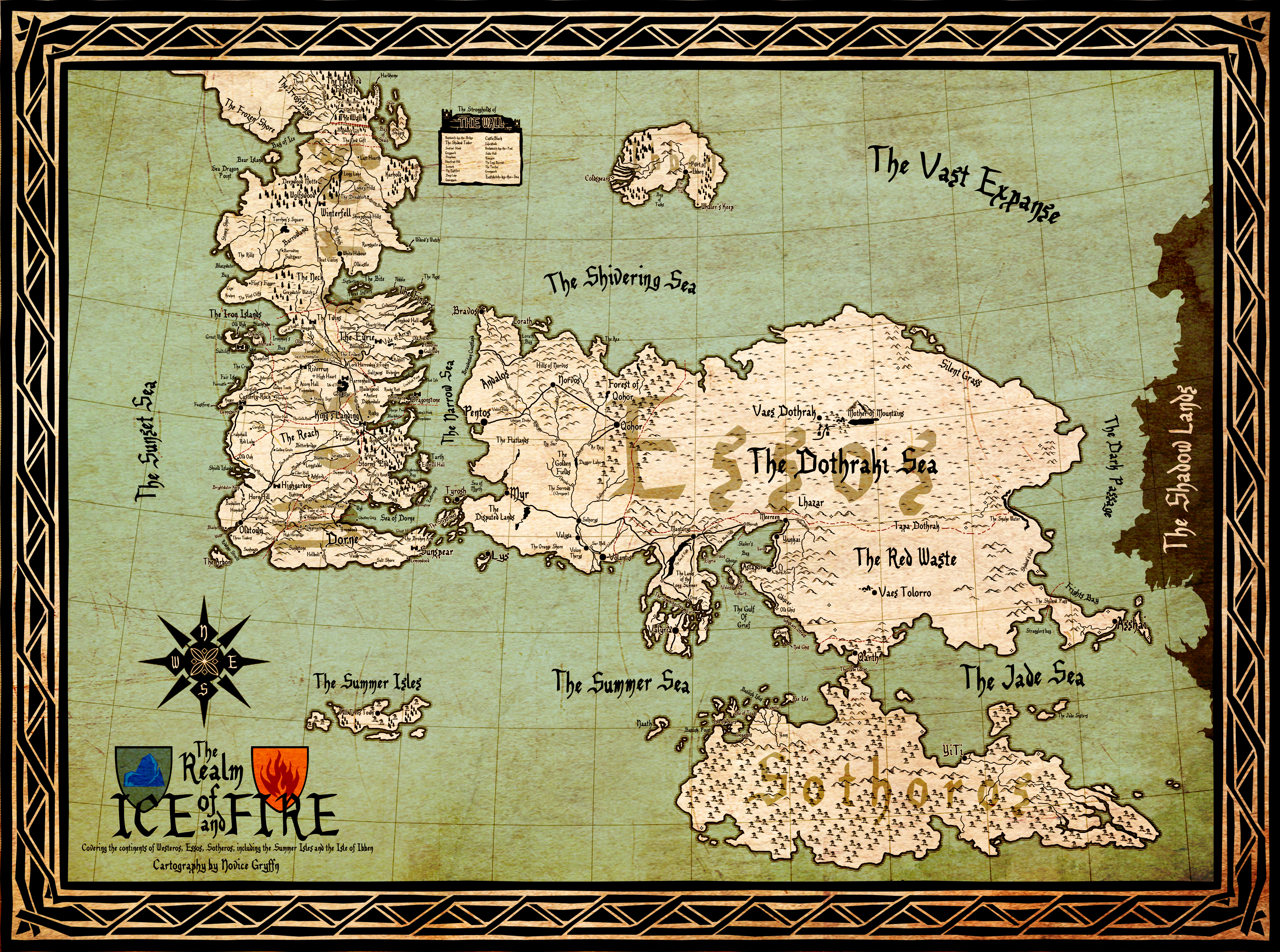 a map of a song of ice and fire version  by scrollsofaryavart on  - the realm of ice and fire by akadoom