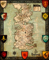 The Seven Kingdoms of Westeros by AKADoom