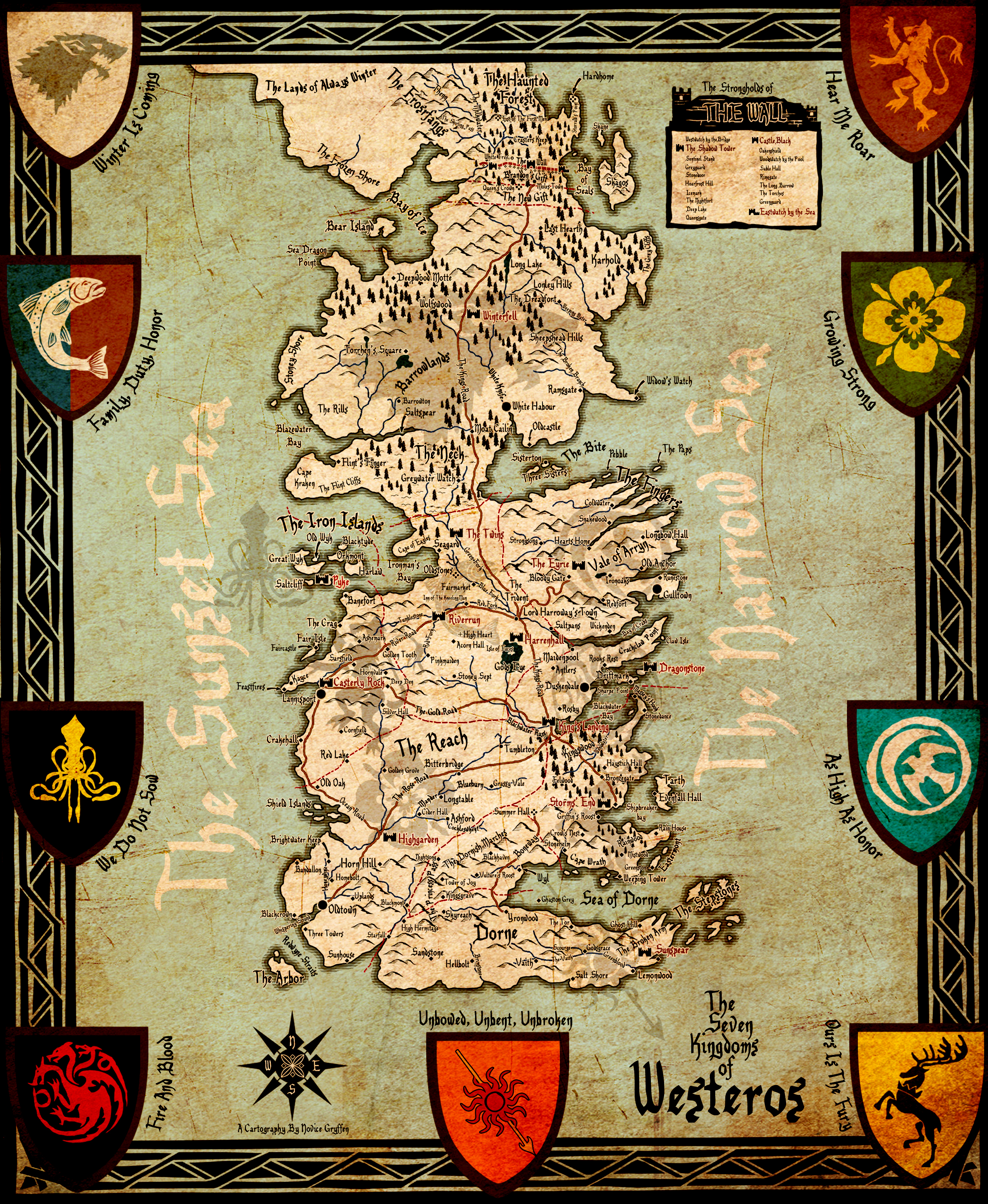the seven kingdoms of westeros by akadoom on deviantart