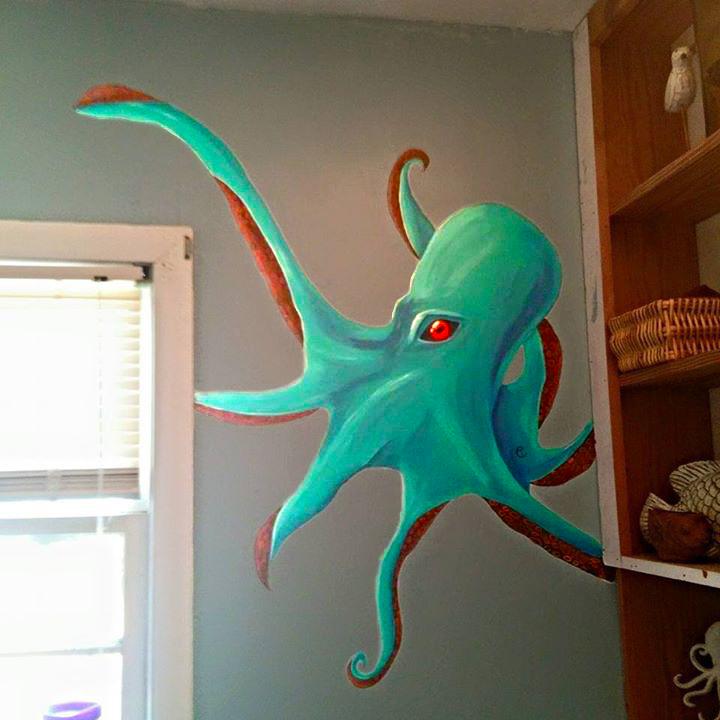 Inspiring Octopus Wall Mural - Home Design #930