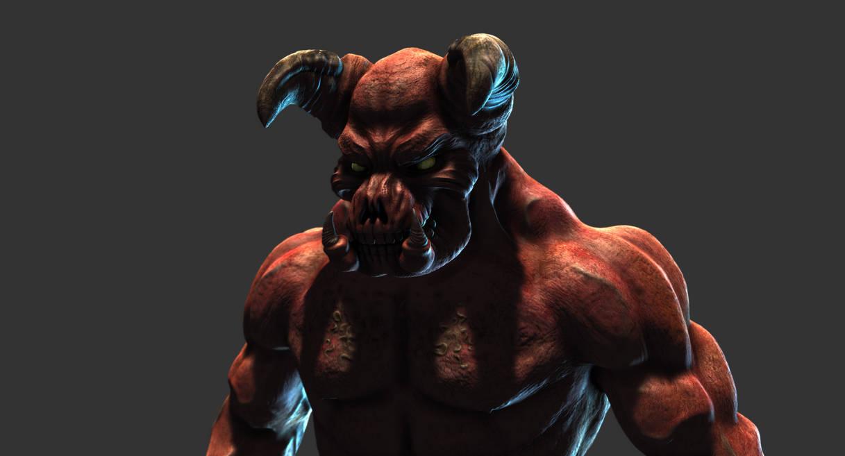 doom_baron_of_hell_mudbox_render_by_s13n