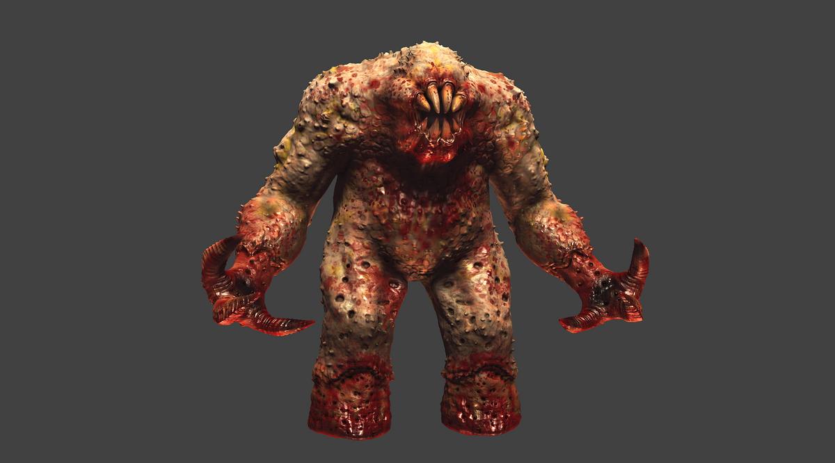 Quake 1 Shambler HD Remake MudBox Work In Progress by ... Quake 1 Monsters