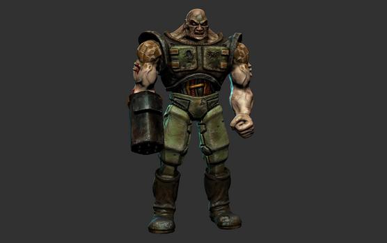 Quake 2 Infantry HD Mudbox Model Render
