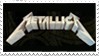 Metallica Logo Stamp by AxelSilverwolf