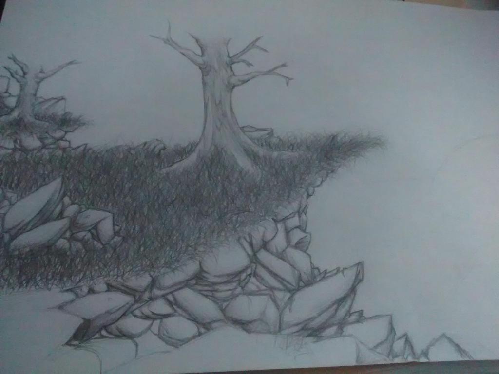 Traditional tree WIP by Gryndra