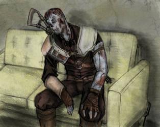 FO3 Ghoul - Roy Phillips by CursedFreak
