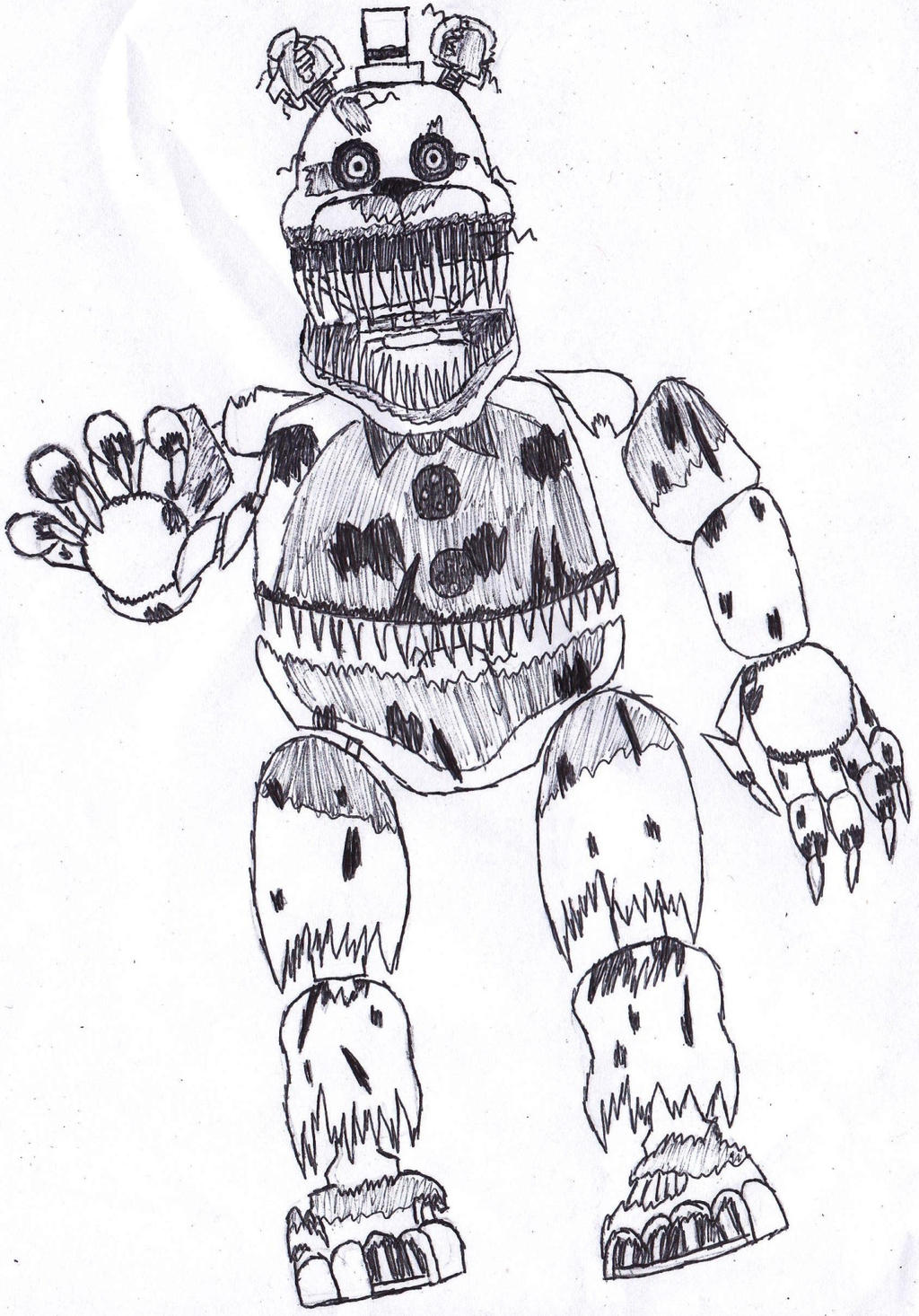 Nightmare fredbear by ask ishiro gojira on deviantart for Fnaf coloring pages nightmare