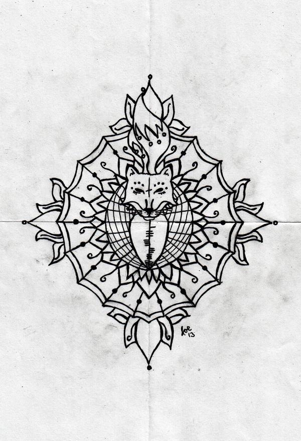Fox Mandala By Romancer On DeviantArt